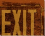 Brown At the Movies Exit Sign Wrapped Canvas Giclee Print Wall Art
