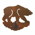 Brown Bear Metal Robe Hook