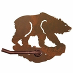 Brown Bear Metal Toilet Paper Holder