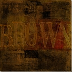 """Brown"" Block Wrapped Canvas Giclee Print Wall Art"