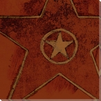 Brown Hollywood Walk of Fame Star Wrapped Canvas Giclee Print