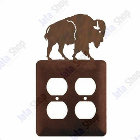 Buffalo Double Metal Outlet Cover