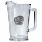 Buffalo Glass Pitcher with Pewter Accent