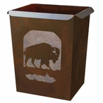 Buffalo Metal Wastebasket Trash Can