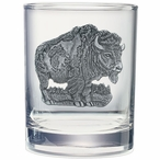 Buffalo Pewter Accent Double Old Fashion Glasses, Set of 2