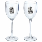 Buffalo Pewter Accent Wine Glass Goblets, Set of 2