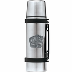 Buffalo Stainless Steel Thermos with Pewter Accent