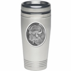 Buffalo Stainless Steel Travel Mug with Pewter Accent