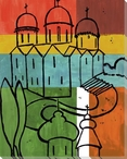 Building Block 2 Wrapped Canvas Giclee Art Print Wall Art