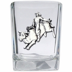 Bull Rider Pewter Accent Shot Glasses, Set of 4