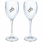 Bull Rider Pewter Accent Wine Glass Goblets, Set of 2
