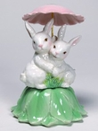 Bunny Rabbit Musical Music Box Sculpture