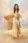 Burden Basket Native American Woman Artist Proof Art Print Wall Art