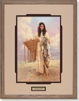 Burden Basket Native American Woman Framed Art Print Wall Art