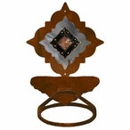 Burnished Diamond Copper Berry Concho Metal Bath Towel Ring