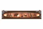Burnished Elk Family in the Forest Six Light Metal Vanity Light