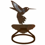 Burnished Hummingbird Metal Bath Towel Ring