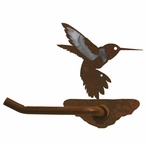 Burnished Hummingbird Metal Toilet Paper Holder