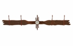 Burnished New Mexico Sun Four Hook Metal Wall Coat Rack