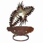 Burnished Pine Cone Metal Bath Towel Ring