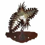 Burnished Pine Cone Metal Robe Hook