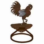 Burnished Rooster Metal Bath Towel Ring
