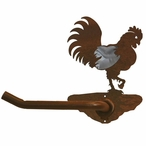 Burnished Rooster Metal Toilet Paper Holder