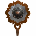 Burnished Round Copper Berry Concho Large Single Metal Wall Hook