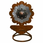 Burnished Round Copper Berry Concho Metal Bath Towel Ring