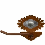 Burnished Sunburst Concho Metal Toilet Paper Holder