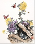 Butterfly 2 Wrapped Canvas Giclee Print Wall Art