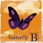 Butterfly Friend Wrapped Canvas Giclee Print Wall Art