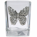 Butterfly Pewter Accent Shot Glasses, Set of 4