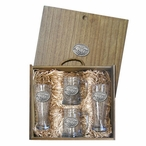 By A Nose Horse and Jockey Pewter Pilsner Glasses & Beer Mugs Box Set