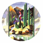 By the Creek Side Round Beverage Coasters by Diana Madaras, Set of 12