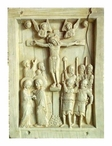 Byzantine Crucifixion Tablet Wall Plaque