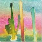Cactus Slice III Wrapped Canvas Giclee Print Wall Art