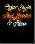 Cajun Style Neon Sign Wrapped Canvas Giclee Print Wall Art