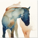 Calm Boy Horses Wrapped Canvas Giclee Print Wall Art