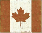 Canada: Canadian Flag Wrapped Canvas Giclee Print Wall Art