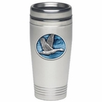 Canadian Goose Blue Stainless Steel Travel Mug with Pewter Accent