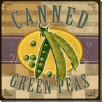 Canned Green Beans Wrapped Canvas Giclee Print Wall Art