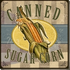 Canned Sugar Corn Wrapped Canvas Giclee Print Wall Art