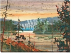 Canoe Country Scenery Wrapped Canvas Giclee Print Wall Art