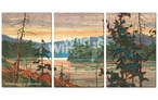 Canoe Country Scenic Wrapped Canvas Giclee Wall Art Print, Set of 3