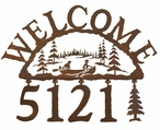 Canoe Metal Address Welcome Sign