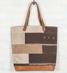 Canyon Patch Canvas and Leather Tote Bag