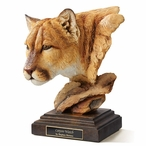 Canyon Watch Cougar Hand Painted Sculpture