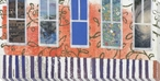 Capricious Window View Wrapped Canvas Giclee Print Wall Art