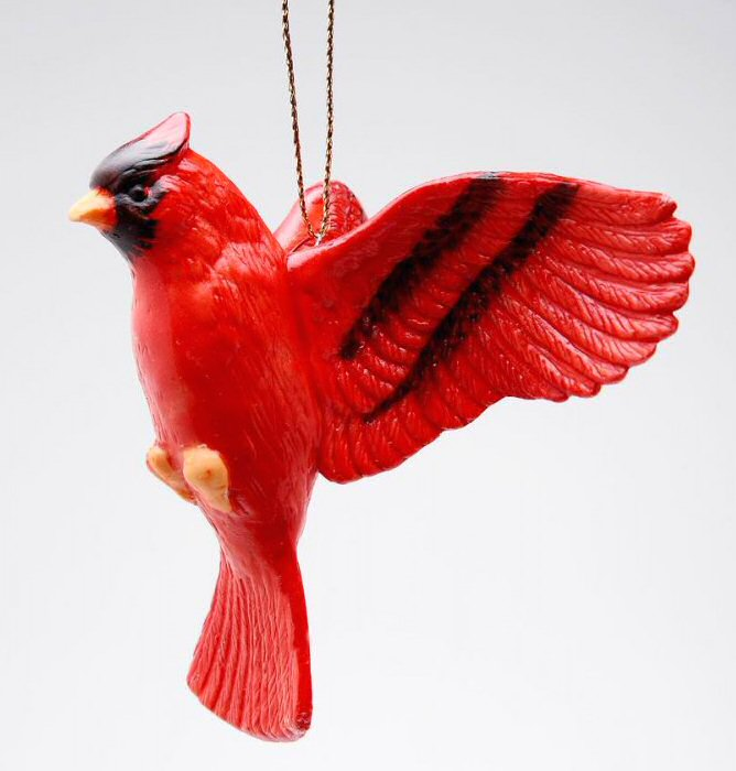 cardinal bird christmas tree ornaments set of 4 - Red Cardinal Christmas Decorations